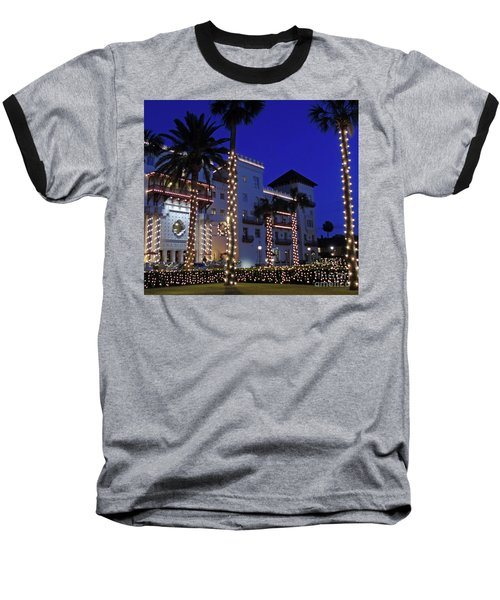 Casa Monica Inn Night Of Lights Baseball T-Shirt