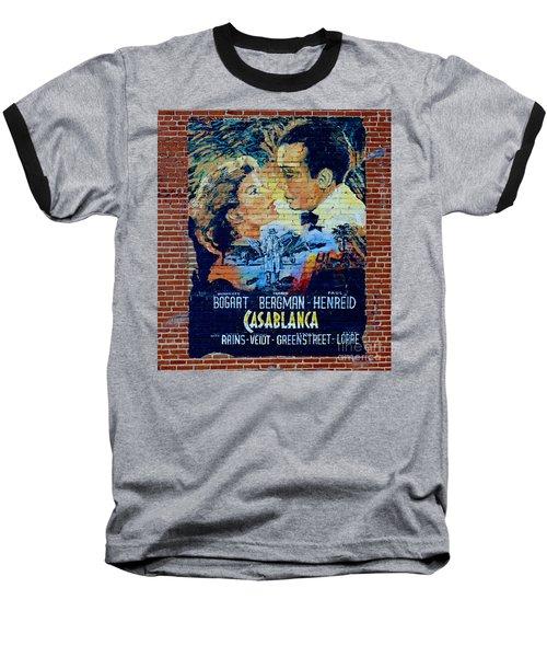 Baseball T-Shirt featuring the photograph Casablanca Mural 2013 by Padre Art