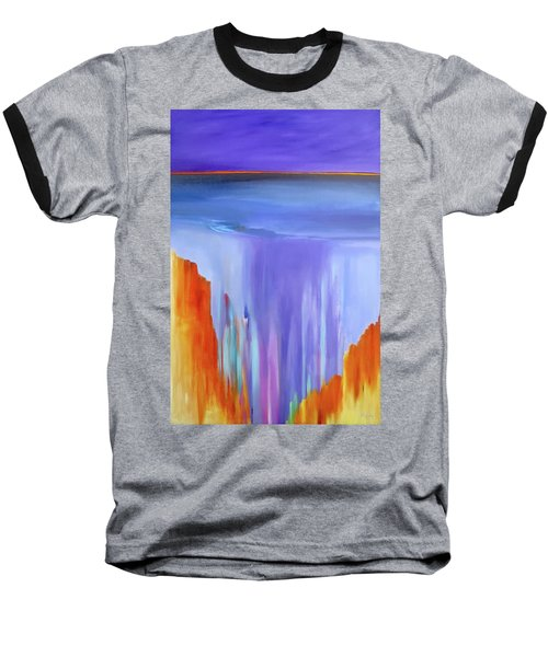 Baseball T-Shirt featuring the painting Casade by Jo Appleby