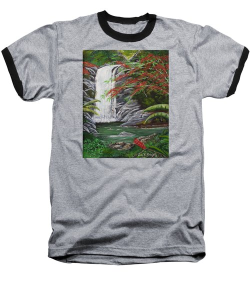 Cascada Tropical Baseball T-Shirt by Luis F Rodriguez
