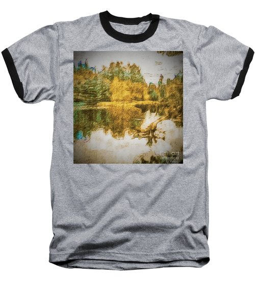 Cascade Lake Baseball T-Shirt by William Wyckoff