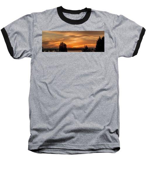 Cascade Mountains - Sunrise Panorama Baseball T-Shirt by E Faithe Lester