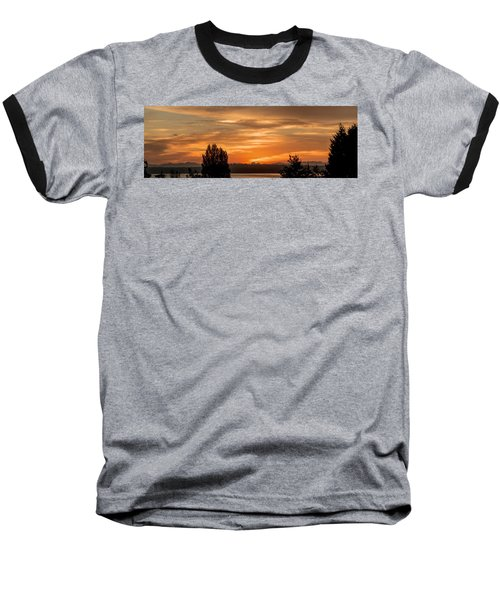 Cascade Mountains - Sunrise Panorama Baseball T-Shirt