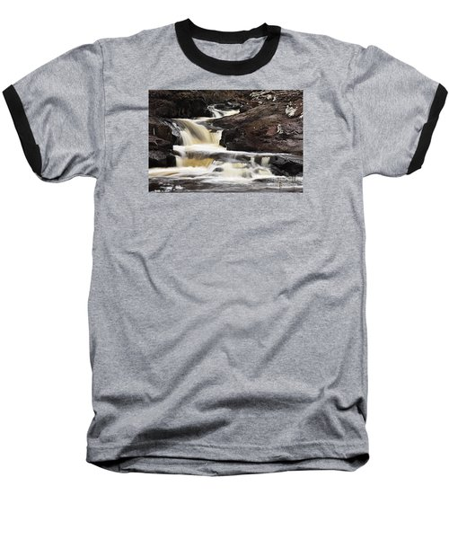 Baseball T-Shirt featuring the photograph Cascade On The Two Island River by Larry Ricker