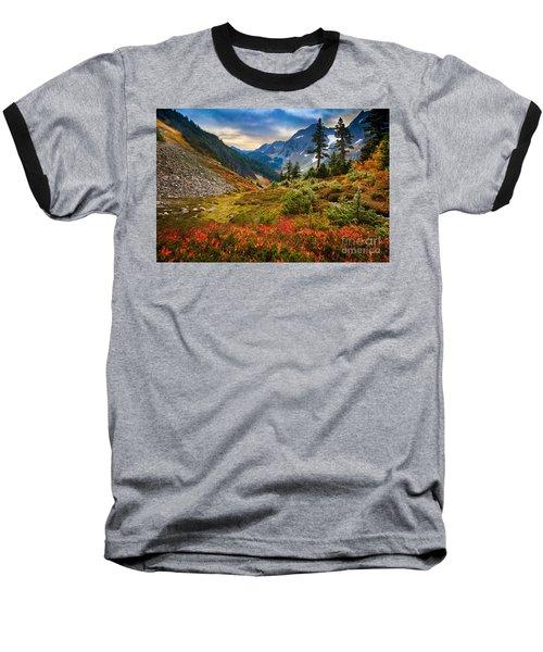 Cascade Pass Fall Baseball T-Shirt