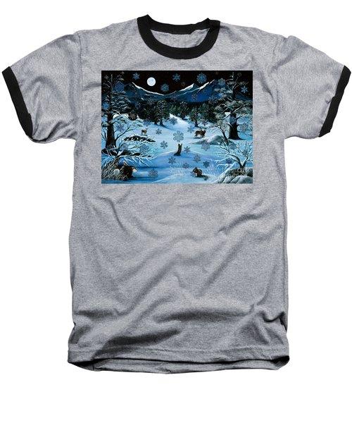 Cascade Snowflake Baseball T-Shirt