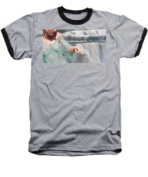 Baseball T-Shirt featuring the digital art Cascade by Steve Karol