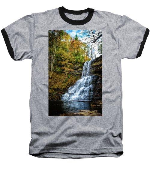 Cascades Lower Falls Baseball T-Shirt