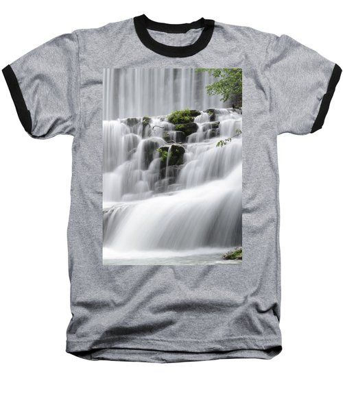 Baseball T-Shirt featuring the photograph Cascading Mirror Lake Falls by Renee Hardison