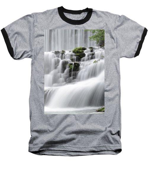 Cascading Mirror Lake Falls Baseball T-Shirt by Renee Hardison