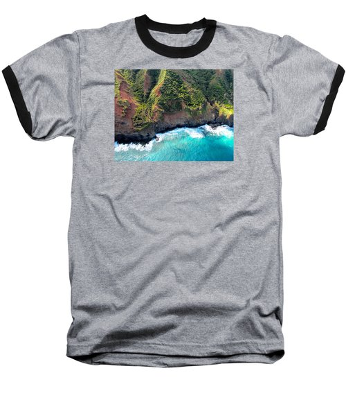 Cascading To The Sea Baseball T-Shirt by Brenda Pressnall