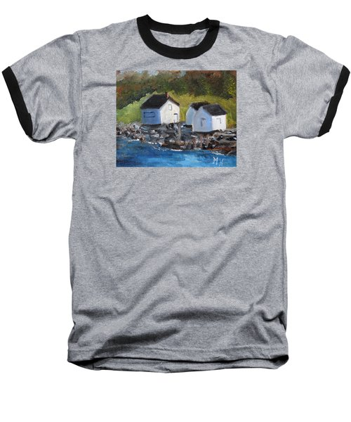 Casco Bay Boat Houses Baseball T-Shirt