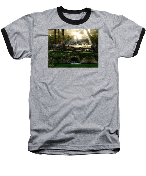 Baseball T-Shirt featuring the painting Casey Jones by Michael Cleere
