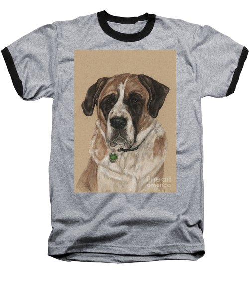 Baseball T-Shirt featuring the drawing Casey  by Meagan  Visser