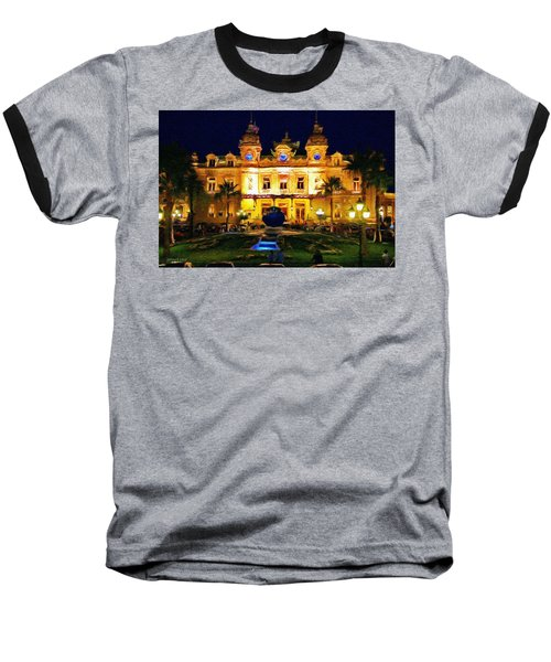 Casino Monte Carlo Baseball T-Shirt