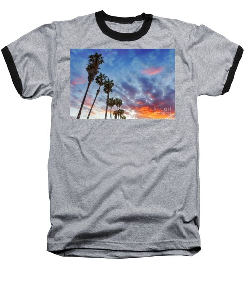 Baseball T-Shirt featuring the photograph Casitas Palms by John A Rodriguez