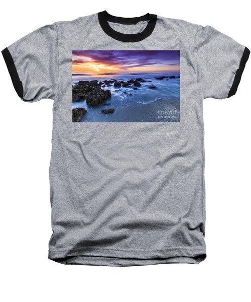 Casperson Beach Sunset 2 Baseball T-Shirt
