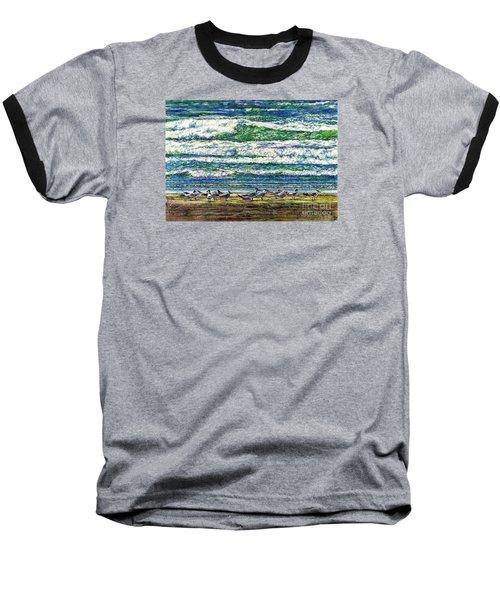 Caspian Terns By The Ocean Baseball T-Shirt