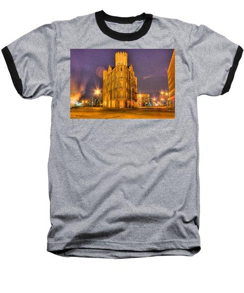 Cass Castle Detroit Mi Baseball T-Shirt by Nicholas  Grunas