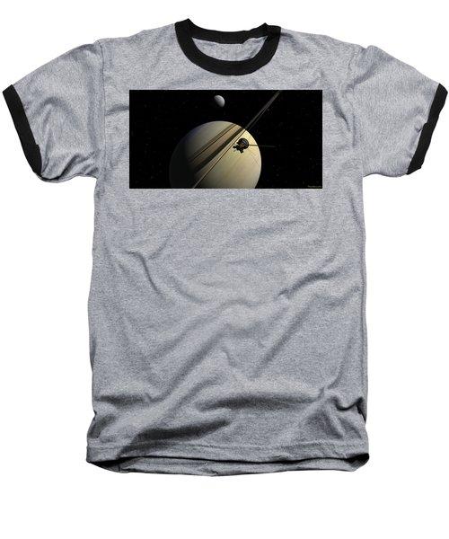 Cassini Passing Tethys Baseball T-Shirt