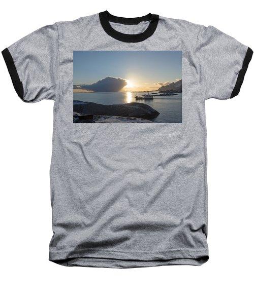 Cast A Giant Shadow... Reine Lofoten Baseball T-Shirt by Dubi Roman