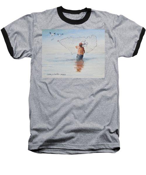 Cast Net Fishing Baseball T-Shirt