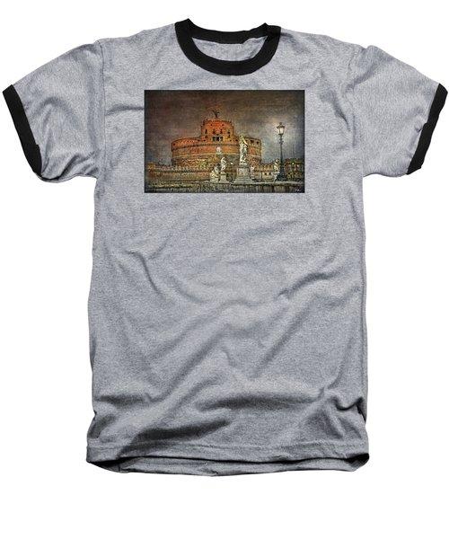 Baseball T-Shirt featuring the photograph Castel Sant Angelo Fine Art by Hanny Heim