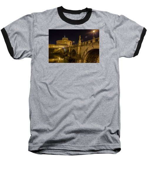 Baseball T-Shirt featuring the photograph Castel Sant'angelo by Ed Cilley
