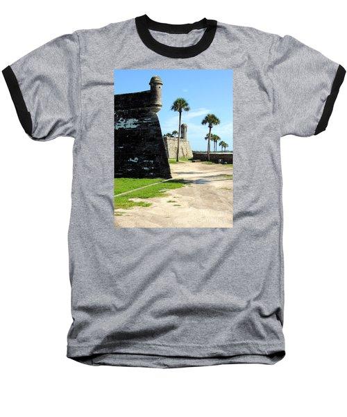 Baseball T-Shirt featuring the photograph Castillo De San Marcos St Augustine Florida by Bill Holkham