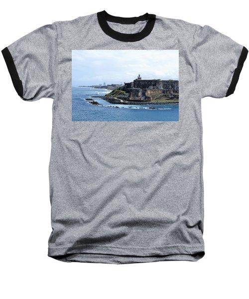 Castillo San Felipe Del Morro Baseball T-Shirt by Lois Lepisto