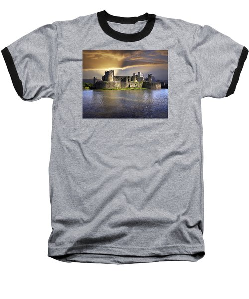 Castle At Dawn Baseball T-Shirt