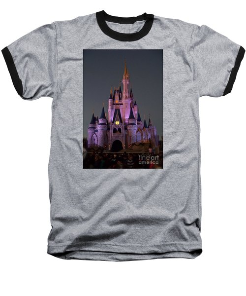 Baseball T-Shirt featuring the photograph Castle At Twilight by Carol  Bradley