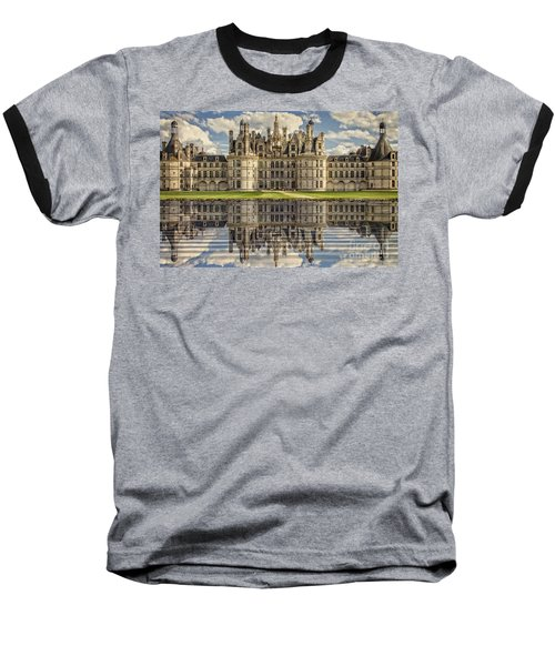 Baseball T-Shirt featuring the photograph Castle Chambord by Heiko Koehrer-Wagner