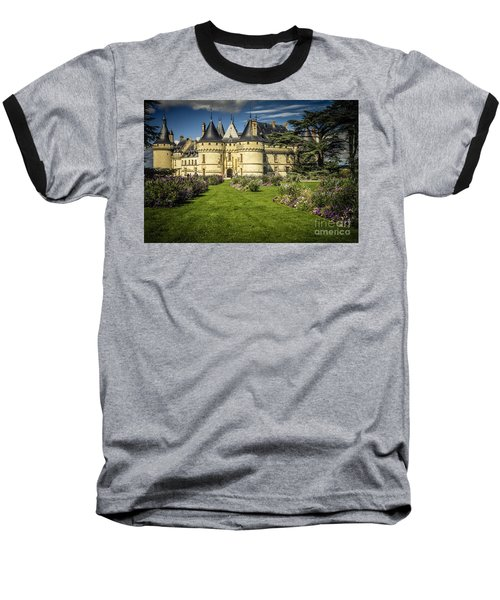 Baseball T-Shirt featuring the photograph Castle Chaumont With Garden by Heiko Koehrer-Wagner
