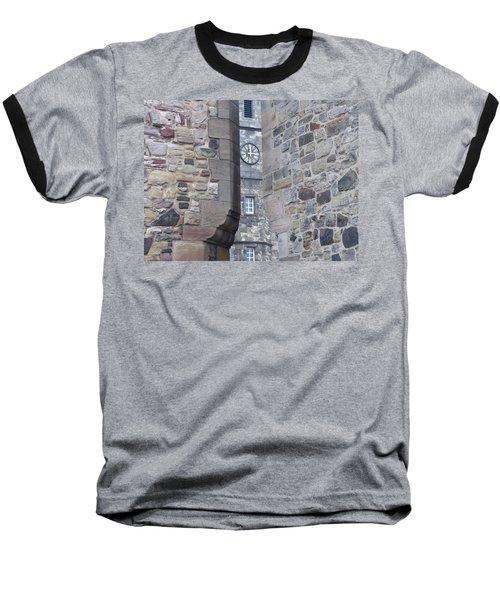 Castle Clock Through Walls Baseball T-Shirt