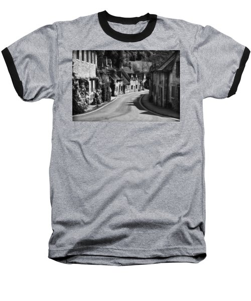 Castle Combe England 2 Bw  Baseball T-Shirt by Mike Nellums