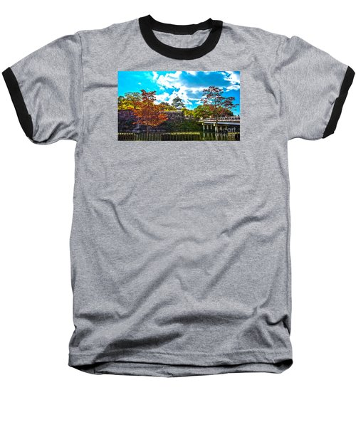 Baseball T-Shirt featuring the photograph Castle In Osaka by Pravine Chester