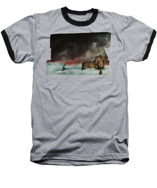 Castle In The Clouds Baseball T-Shirt by Terry Fleckney