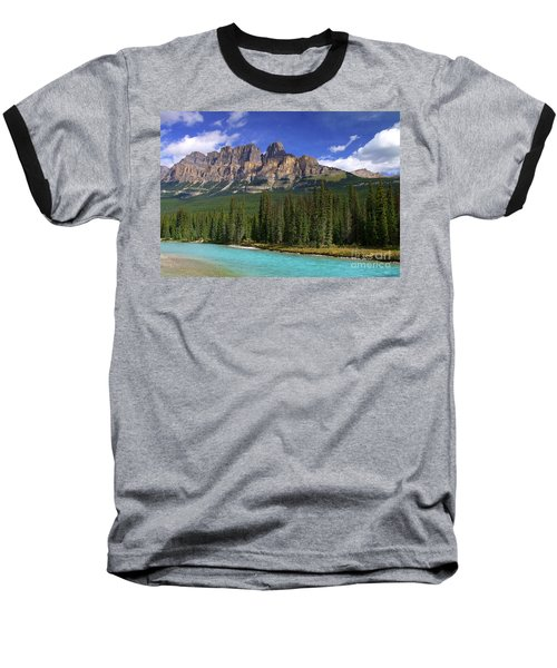 Castle Mountain Banff The Canadian Rockies Baseball T-Shirt