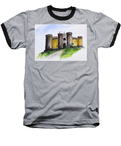 Castle Nuovo, Napoli Baseball T-Shirt by Clyde J Kell