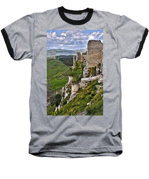 Castle Of Pietraperzia Baseball T-Shirt by Patrick Boening