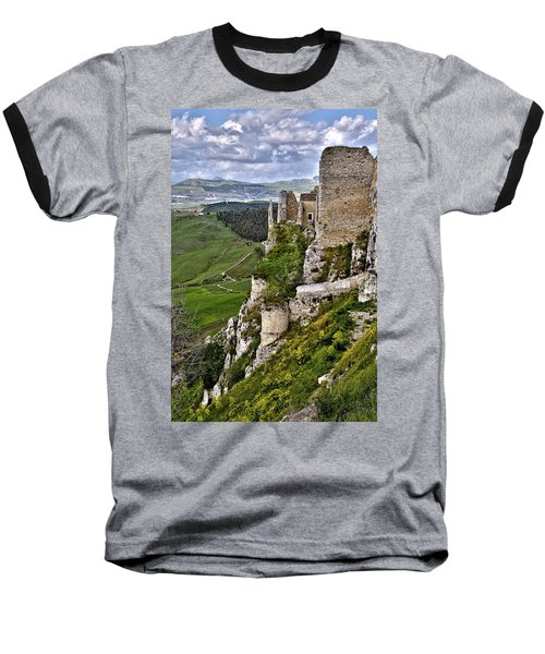 Castle Of Pietraperzia Baseball T-Shirt