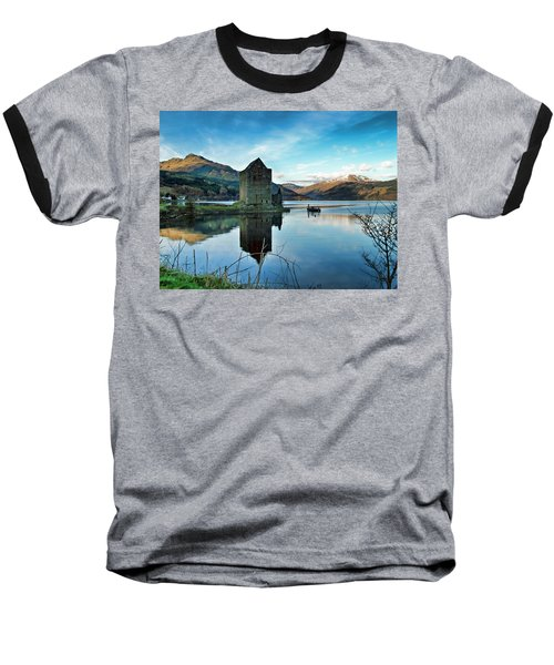 Castle On The Loch Baseball T-Shirt by Lynn Bolt