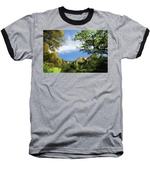 Castle Rock Baseball T-Shirt by Donna Blackhall