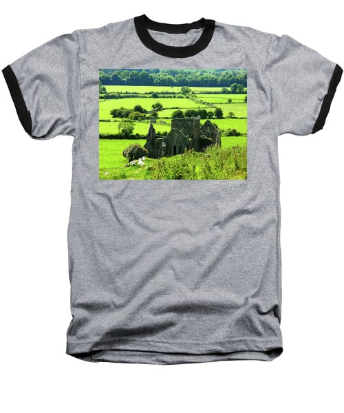 Castle Ruins Countryside Baseball T-Shirt