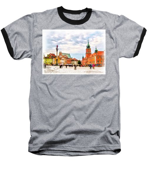 Castle Square, Warsaw Baseball T-Shirt by Maciek Froncisz