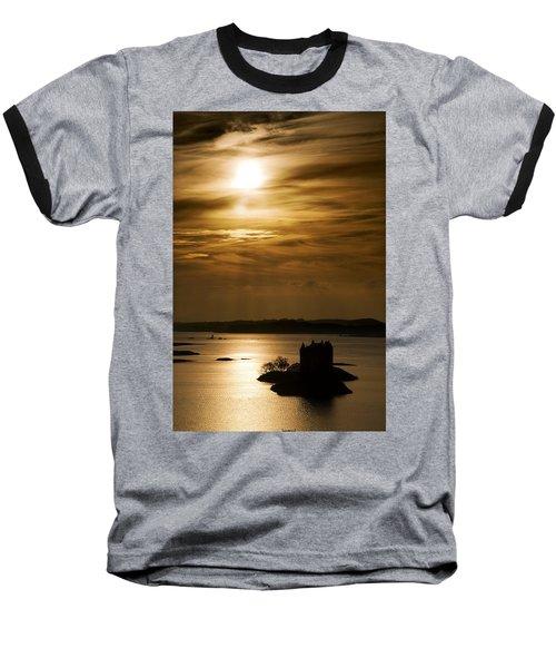 Castle Stalker At Sunset, Loch Laich Baseball T-Shirt
