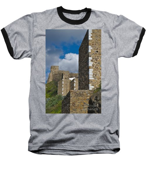 Castle Wall In Alentejo Portugal Baseball T-Shirt