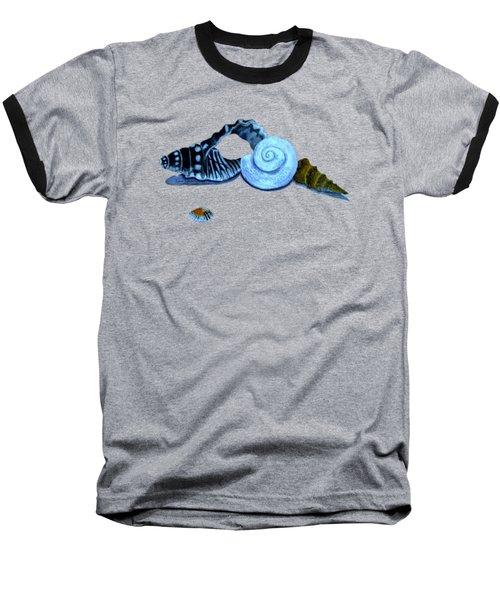 Castles In Blue Baseball T-Shirt by Leanne Seymour