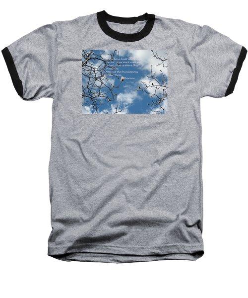 Castles In The Air Baseball T-Shirt by Deborah Dendler